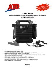 atd-5928 rechargeable 12 volt 22 amp/hour jump start owners manual