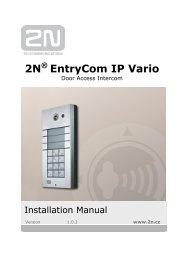 EntryCom IP Vario - 2N Telekomunikace a.s.