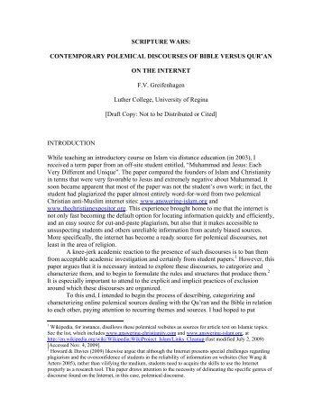SCRIPTURE WARS - Society of Biblical Literature
