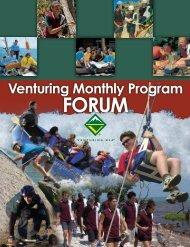 Venturing Monthly Program Forum - Boy Scouts of America