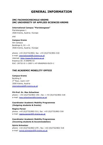 Information Sheet.pdf - IMC Fachhochschule Krems GmbH