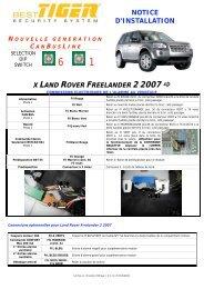 notice d'installation x land rover freelander 2 2007 - Davicom ...