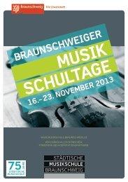 MUSIK SCHULTAGE - Stadt Braunschweig