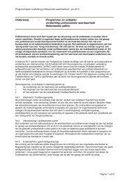 Onderwerp : Programma- en actieplan versterking ... - Rijksoverheid.nl