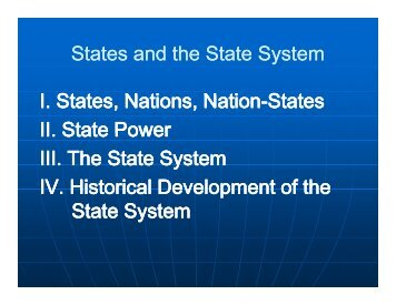 States and the State States and the State System ... - Rose-Hulman