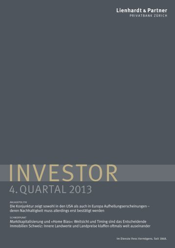 Investor 4. Quartal 2013 PDF - Lienhardt & Partner - Privatbank Zürich