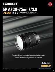Catalogue 28-75mm F/2,8