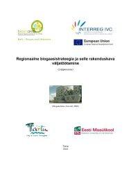 Regionaalse biogaasistrateegia ja selle rakenduskava ... - Tartu