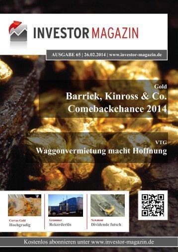 Das Investor Magazin - Ausgabe 65