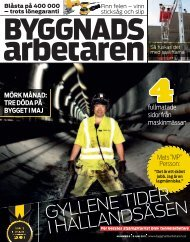 Nr 8 2011 - Byggnadsarbetaren