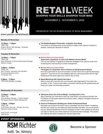 retail week - Ryerson University