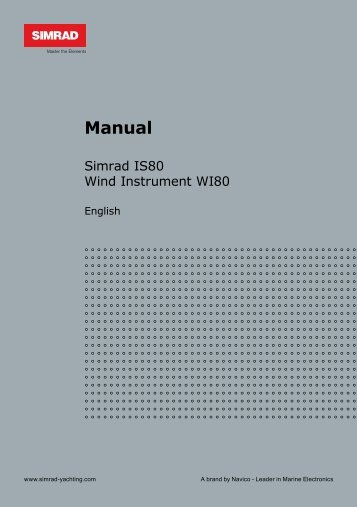 Simrad IS80 Wind Instrument Manual - Simrad Professional Series ...