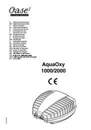 AquaOxy 1000/2000 - Oase Teichbau