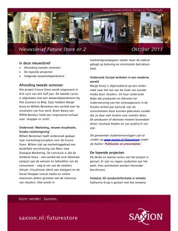 Nieuwsbrief oktober 2011 - Saxion Hogescholen