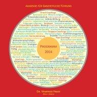 Programm 2014 - Akademie für Ganzheitliche Führung Dr. Winfried ...