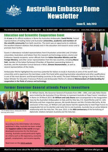 Australian Embassy Rome Newsletter - July 2013.pdf