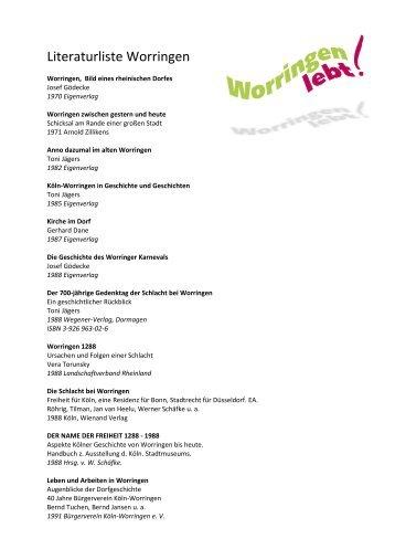 Download als PDF-File - Worringen lebt!