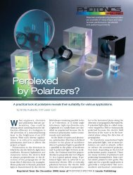 Perplexed by Polarizers? Perplexed by Polarizers? - CVI Melles Griot