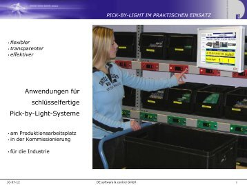 Was ist Pick-by-Light? - DE software & control Gmbh