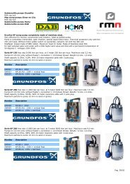 Submersible pumps Grundfos With top exit Mop sump pomps Simer ...