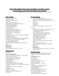 fox meadow 2012-2013 school supply list - School District U-46