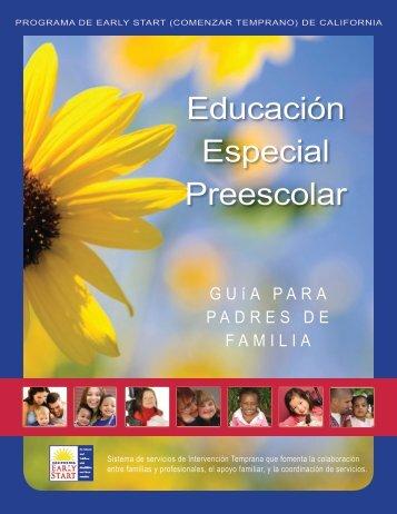 Educación Especial Preescolar - San Diego Regional Center