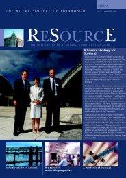 Science Strategy for Scotland - The Royal Society of Edinburgh