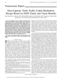 Near-capacity turbo trellis coded modulation design based on union ...