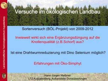 Versuche im Ökolandbau - Vortrag Donaueschingen - LTZ ...
