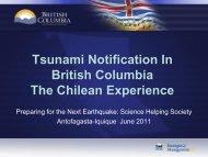Tsunami Notification In British Columbia The Chilean Experience