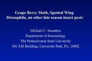 Grape Berry Moth and Spotted Wing Drosophila - PA Wine Grape ...