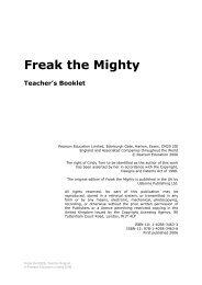 Freak the Mighty - Pearson Schools