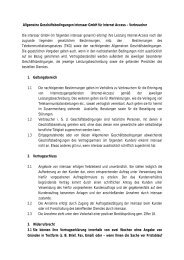 AGB Internet Access - Privatkunden - Intersaar GmbH