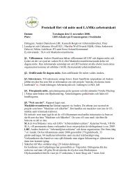 Protokoll fört vid möte med LAMKs arbetsutskott - SLU