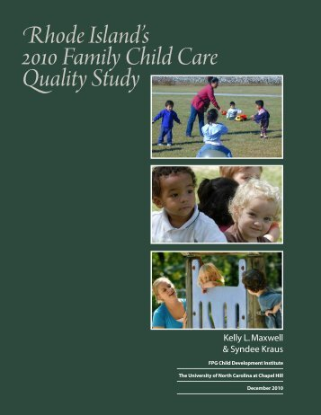 Rhode Island's 2010 Family Child Care Quality Study