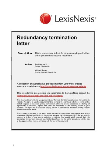 Termination Letter  Organized Mobbing
