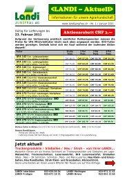 Vorlage für einfaches Dokument - LANDI Jungfrau AG