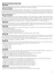 Probabilités conditionnelles - Direction des Enseignements ...