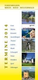 Veranstaltungskalender für die Ferienregion Rhein ... - Stadt Neuwied