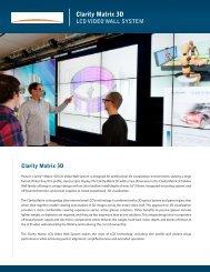 Clarity Matrix 3D Brochure and Datasheet - Planar