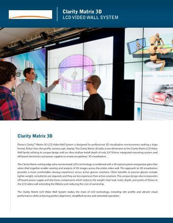 Clarity Matrix 3D Brochure and Datasheet - Planar