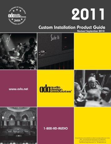 ADA Product Guide 2011 - Audio Design Associates