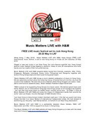 Music Matters LIVE with H&M - ALLTHATMATTERS