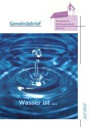Gemeindebrief 2012 Juli/August - Evangelische Kirchengemeinde ...