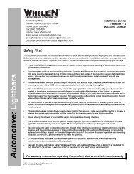 14012: Freedom™ II WeCan® Lightbar - Whelen Engineering