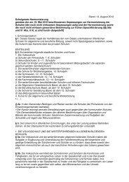 Schulgesetz - Schulharmonisierung