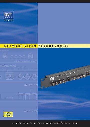 nvt.com N E T W O R K V I D E O T E C H N O L O G ... - CBC CCTV