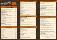 Download the Griffin Menu - UK Restaurant Menus