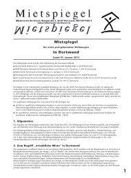 Mietspiegel in Dortmund - Mieterverein Dortmund und Umgebung eV