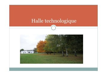 Halle technologique - Master 2 en Mécanique des fluides et ...